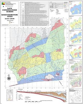 Hydrogeologische Karte des Bassin Sedimentaire cotier / Benin