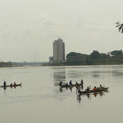 Kleiner Grenzverkehr bei Bangui
